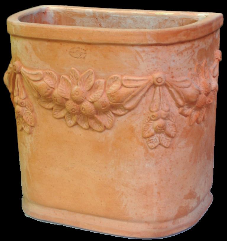 Handmade frostresistant Italian terracotta pottery-Semicherchio